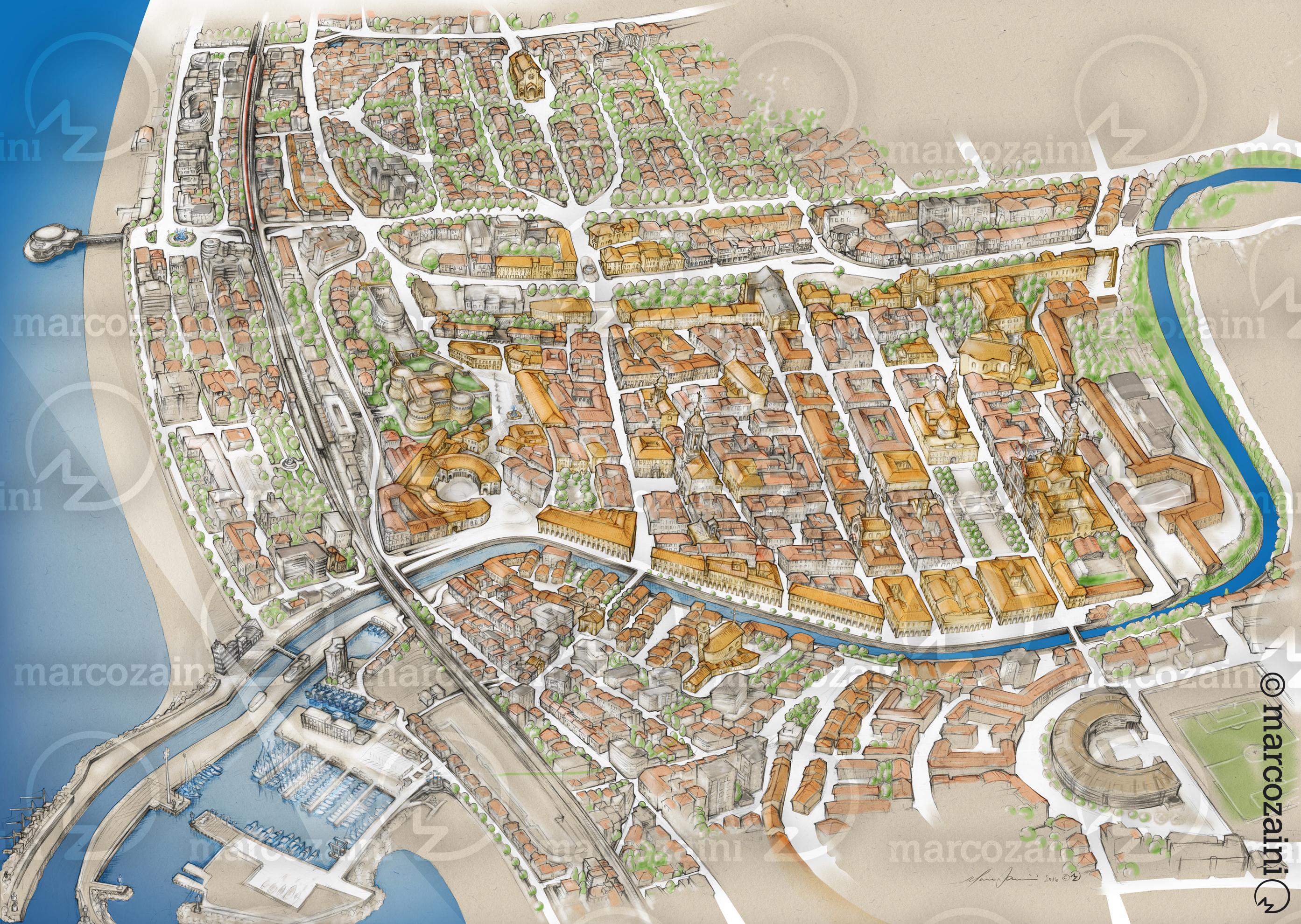 Mappa_Senigallia+textur logo zaini